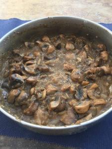 Mushroom pie filling